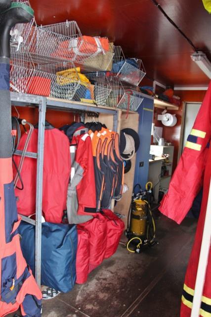 L'abri côtier : le local des plongeurs en contrebas du dortoir 42 (intérieur)